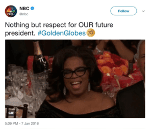 BIAS ALERT: NBC ENDORSES Oprah 2020 During Golden Globes