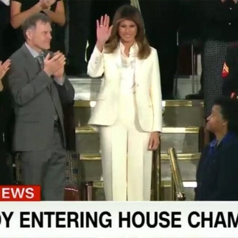 CNN'S NEW CONSPIRACY: Panel Claims Melania WORE WHITE to PROTEST President Trump