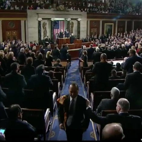 WATCH: Unpatriotic DEMOCRAT FLEES Congress During 'USA' CHANT