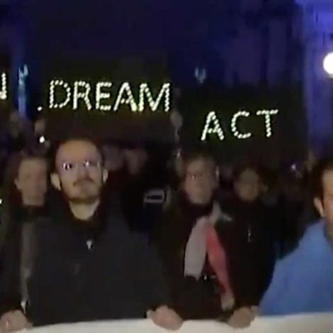 SCHUMER'S SURPRISE: Protesters GATHER OUTSIDE Chuck's NYC Apartment Overnight