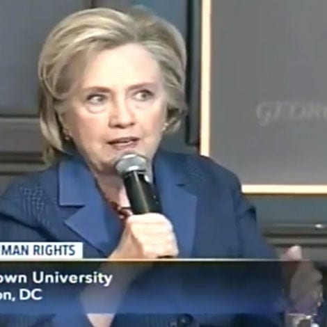 BRAIN FREEZE: Hillary Suggests WOMEN More IMPACTED by Climate Change Than MEN