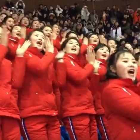 KIM'S CREEPY ARMY: North Korea's 'COMMUNIST CHEERLEADERS' Shock Olympic Games
