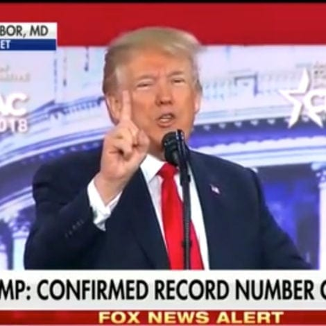 SEE YA! Trump TOSSES LIBERAL HECKLER from Fiery CPAC Speech