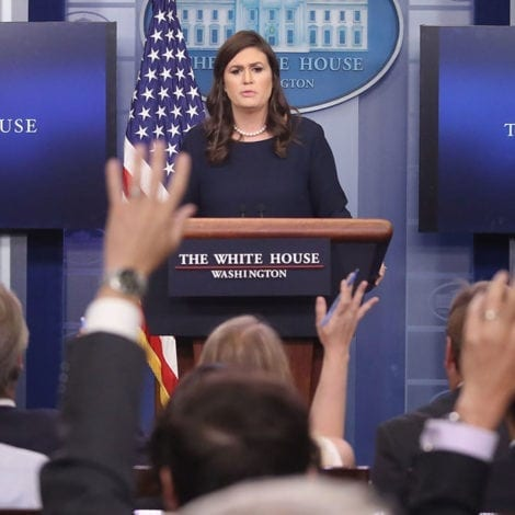 WATCH LIVE: White House Press Briefing with Sarah Huckabee Sanders