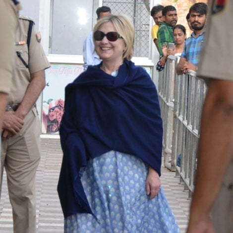 HILLARY'S HEALTH: Clinton FALLS AGAIN in India, FRACTURES WRIST