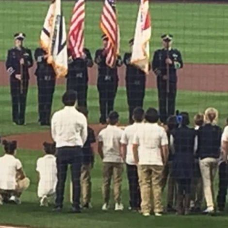 STUDENT STUNNER: Elementary Students TAKE A KNEE During Anthem at MLB Game