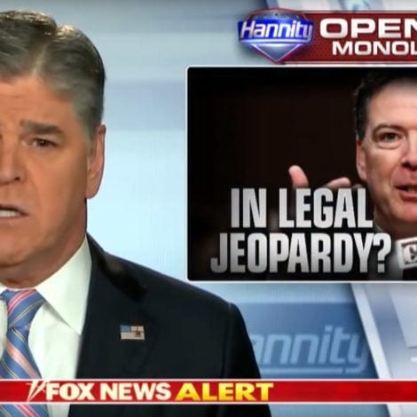 HANNITY: James Comey is in SERIOUS Legal Jeopardy over Classified Leaks