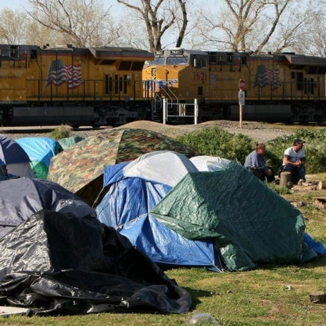 CALIFORNIA CHAOS: Homeless Camps HALT TRAIN Traffic Across the State