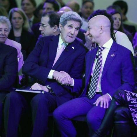 Jeff Bezos And John Kerry