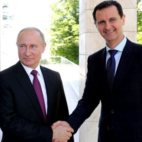 BUTCHER ABROAD: Syria's Assad Visits PUTIN in Rare Russian Summit