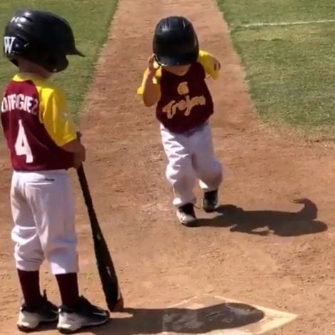 LITTLE LEAGUE LAUGHS: 3-Year Old Baseball Player RUNS BASES in Slow Motion