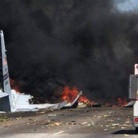 BREAKING: Military Plane CRASHES Outside Savannah, Georgia