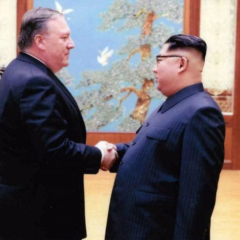 PEACE IN KOREA: Secretary of State Mike Pompeo ARRIVES in North Korea