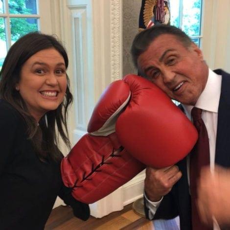 SARAH SMACKDOWN: Huckabee Sanders KO's SLY STALLONE