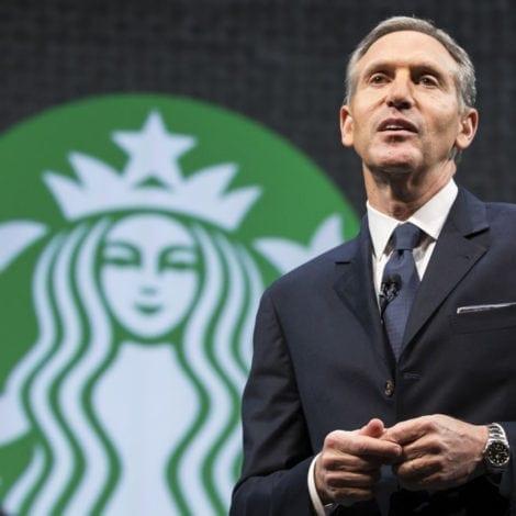 STARBUCKS STRIKES: CEO Schultz Blames Trump for 'Racial Divide'