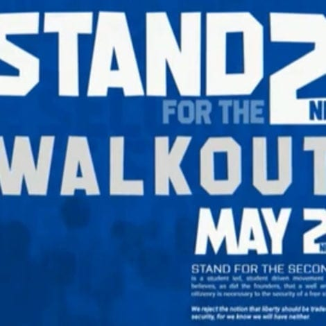 STUDENT SUPPORT: Pro-Second Amendment Students Plan NATIONWIDE 'Walkout'