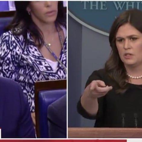 HUCKABEATING: Sarah Sanders ROASTS CNN's Jim Acosta on LIVE TV