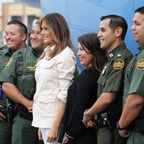 MELANIA'S MESSAGE: The First Lady Thanks Immigration Agents During Texas Tour