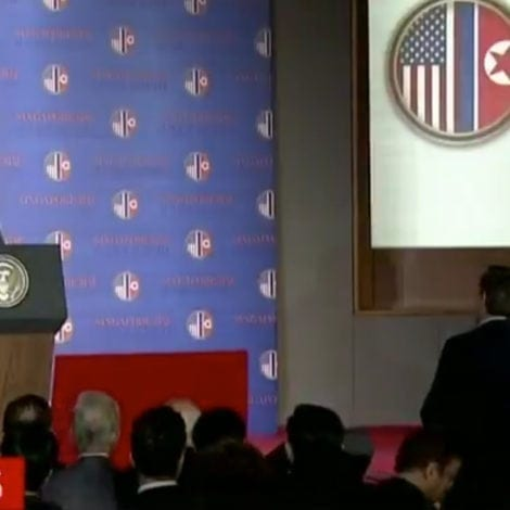 ACOSTA ABROAD: Trump Warns Jim Acosta to 'Be Respectful' During Kim Summit