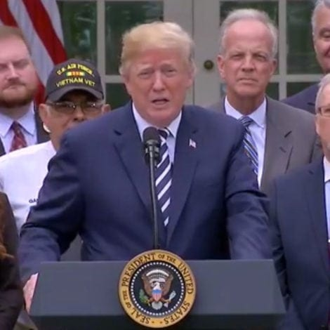 PROMISE KEPT: Trump Signs VETERANS ACT to Expand Healthcare