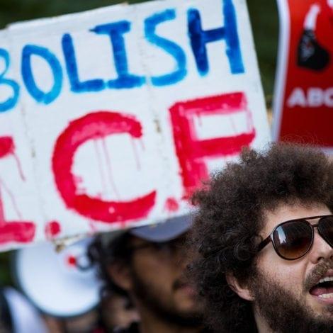 IT BEGINS: Brick Thrown Through Republican Party HQ Window, 'ABOLISH ICE' Graffiti Left