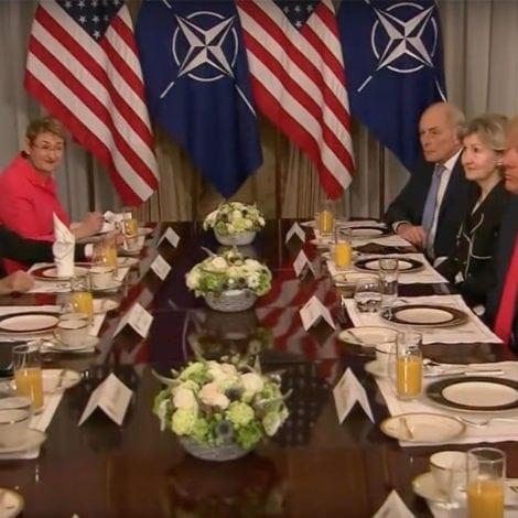 EUROPE YIELDS: NATO Secretary Praises 'TRUMP'S LEADERSHIP,' Says Europe to Pay More