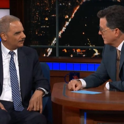NO THANKS: Eric Holder Says He's 'SERIOUSLY CONSIDERING' Running in 2020