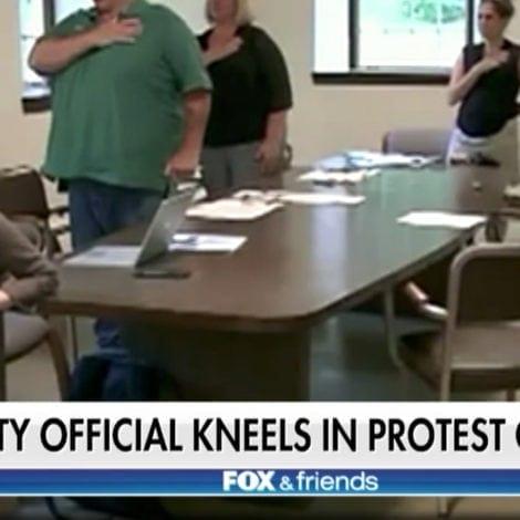 DEMOCRAT DEFIANT: Connecticut Lawmaker KNEELS During Pledge to 'PROTEST TRUMP'