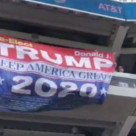NEW YORK STATE OF MIND: NY Yankees Fans UNFURL GIANT Trump 2020 Banner