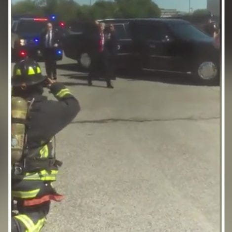 TRUMP BEING TRUMP: Watch the President STOP his Motorcade to Greet Firefighters