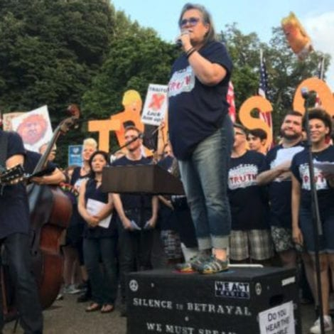 LOONEY TUNES: Rosie O'Donnell Leads Bizarre Anti-Trump MUSICAL Outside the White House