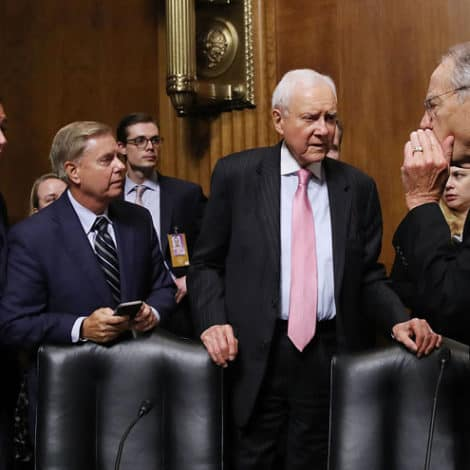 THE LATEST: GOP Senators' Home Addresses Posted Online After Kavanaugh Hearing