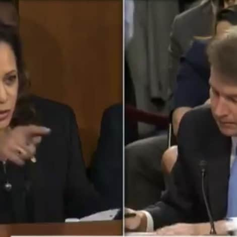 TRUE COLORS: Sen. Harris Refers to Kavanaugh's US Constitution as 'That Book You Carry'