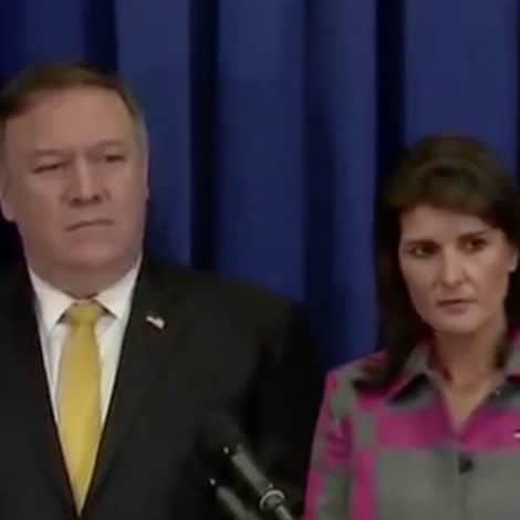TAG TEAM: Pompeo, Haley TORCH CNN's Jim Acosta During Fiery Exchange