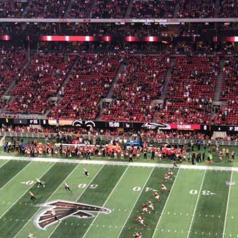 NFL WEEK 3: Empty Stadiums in Atlanta, Minnesota, Los Angeles