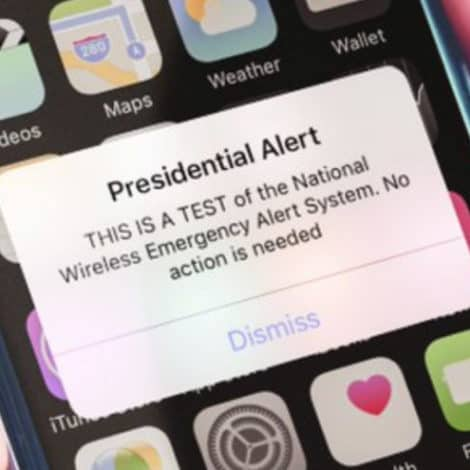 WIRELESS WARNING: FEMA to Test First 'Presidential Alert' to 225 Million Devices