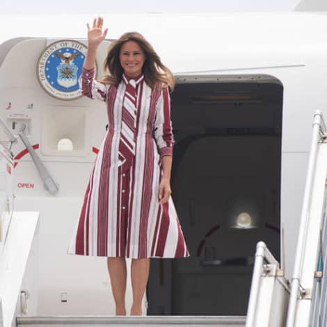 MELANIA ABROAD: The First Lady Touches Down in Ghana on First Solo Trip