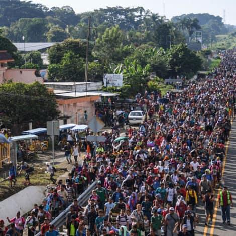 HOMELAND SECURITY: US 'Closely Monitoring' Migrant Caravan for Cartels, Gang Members