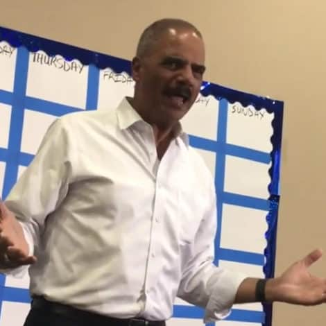 LIBERAL RAGE: Eric Holder Urges Supporters to 'KICK' GOP Voters