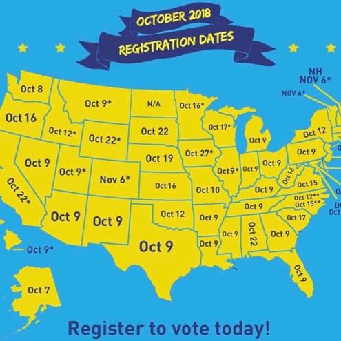 DON'T FORGET: Voter Registration Ending Tuesday in Many States, Register Now at VOTE.GOV