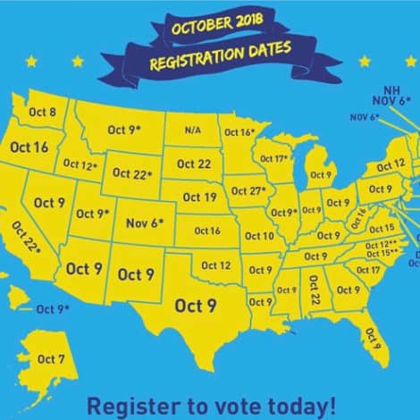 DON'T FORGET: Voter Registration Ending Tuesday in Many States, Register Now at VOTE.GOV