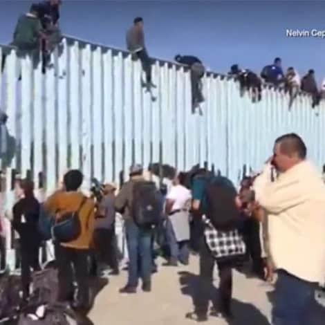 CARAVAN ARRIVES: Central American Migrants ARRIVE at US-Mexico Border in Tijuana