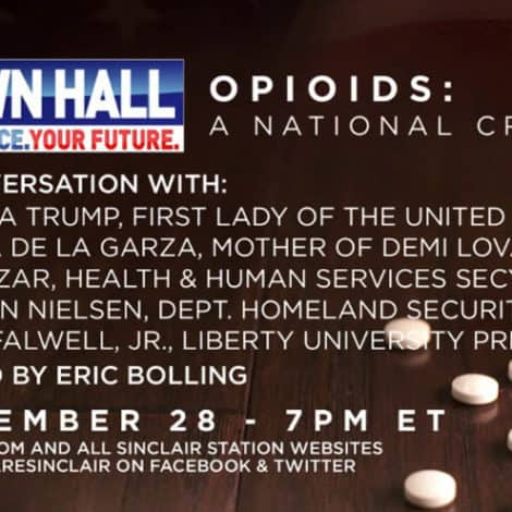 OPIOIDS: A NATIONAL CRISIS- Join First Lady Melania Trump LIVE November 28th at 7PM