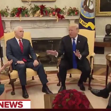 CANDID CAMERA: Pelosi Tells Trump He 'WILL NOT WIN' on Border Wall