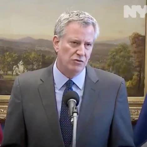 NASTY IN NY: De Blasio Slams 'Sad' Shutdown, Says NYC Will 'Continue to Function'