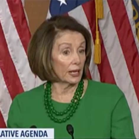 NANCY DIGS IN: Pelosi Says Border Wall Funding a 'NON-STARTER' for Democrats