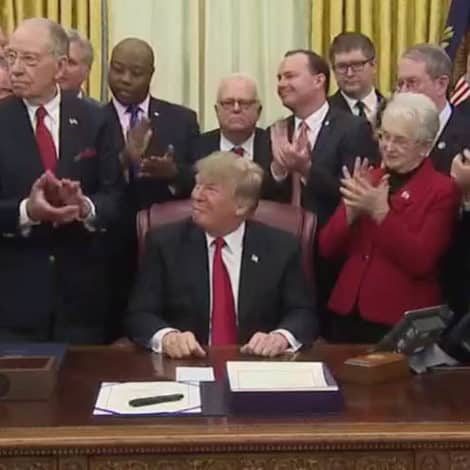 WATCH: President Trump Signs 'FIRST STEP' Criminal Reform Bill