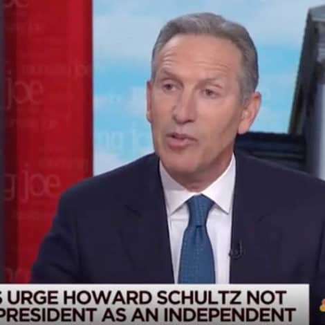 SCHULTZ TO DEMS: 'I'm a Self-Made Billionaire, I Thought that was the AMERICAN DREAM'