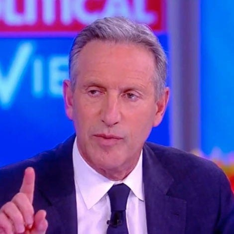 GLOVES OFF: Howard Schultz SLAMS Democrats, Says US 'Can't Afford' Socialist Programs