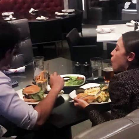 GREEN NEW MEAL: Cortez GRILLS Reporter After Being Photographed with HAMBURGER